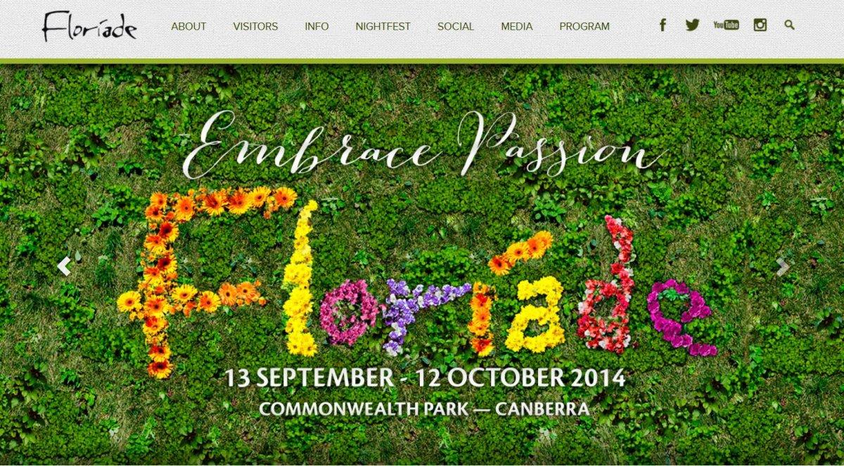 Floriade 2014 home page