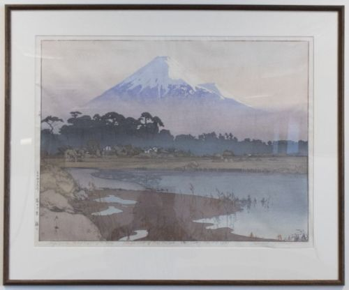 Fujiyama. First light of the sun