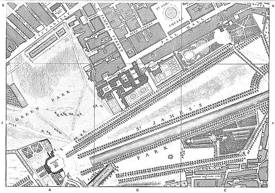 The Mall London Map.Early Maps Of London And Other Cities And Towns National Library