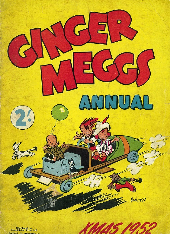 Cover of the Xmas 1952 Ginger Meggs Annual