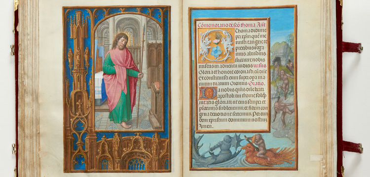 pages from Rothschild Prayer Book