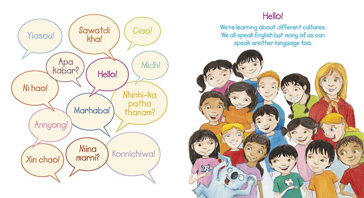 Characters and languages of Hello!