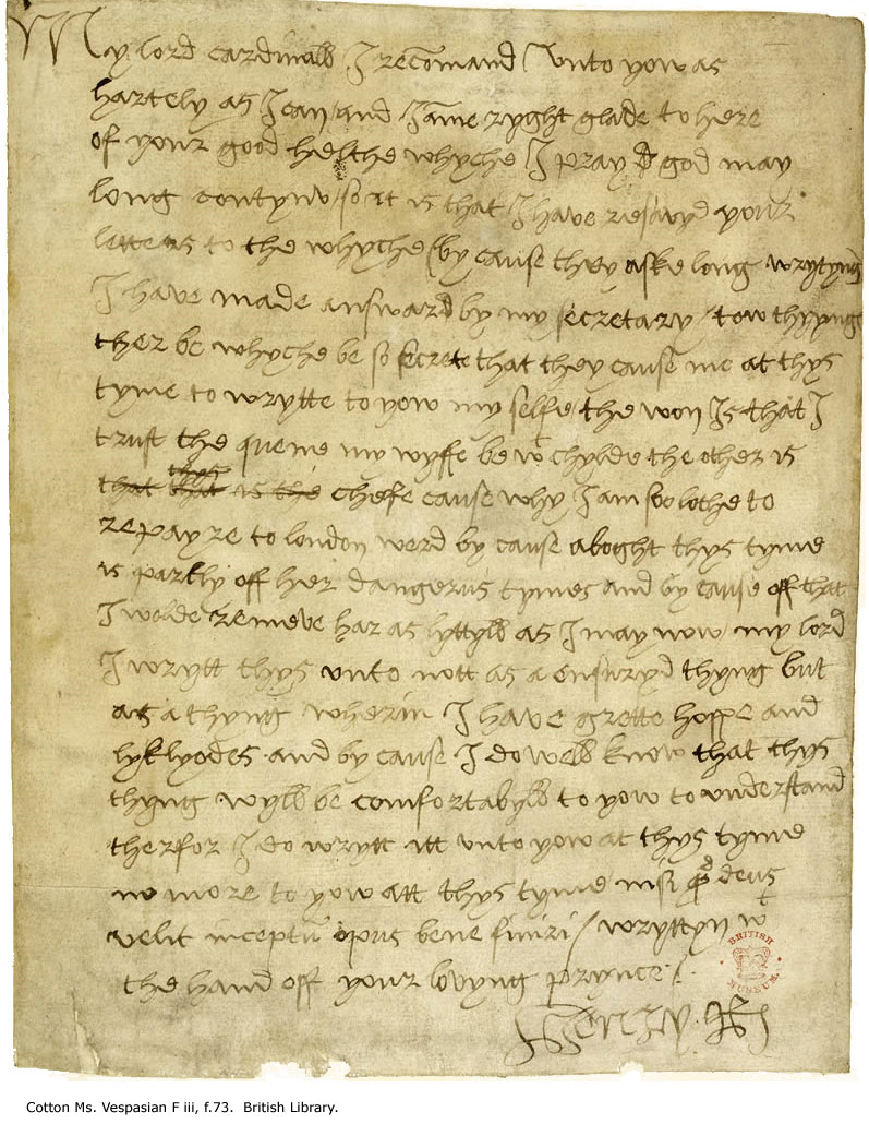 Letter from Henry VIII