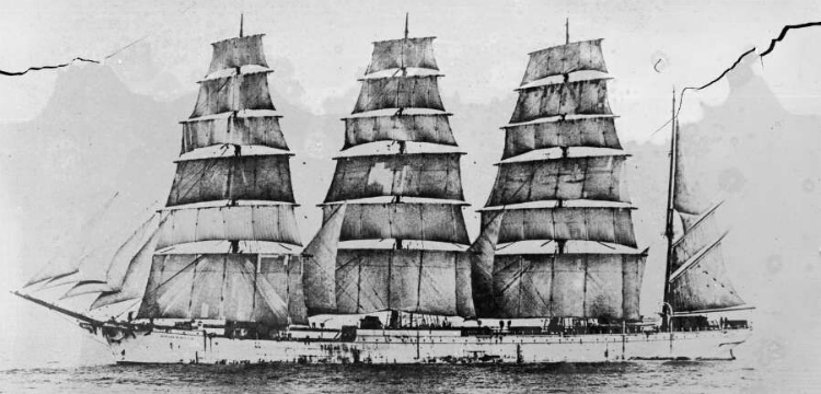 Finnish four masted barque Herzogin Cecilie under full sail, ca. 1930 [picture] / E.W. Searle