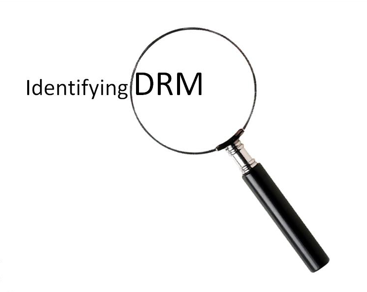 Slide from training titled 'Identifying DRM' with an image of a microscope