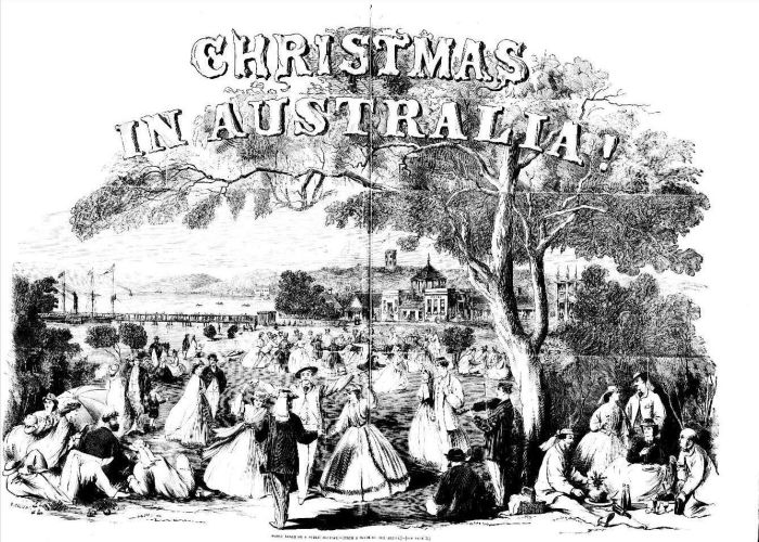 Christmas on Manly Beach 1865