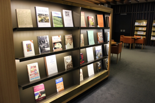 Display of published family histories in the Main Reading Room