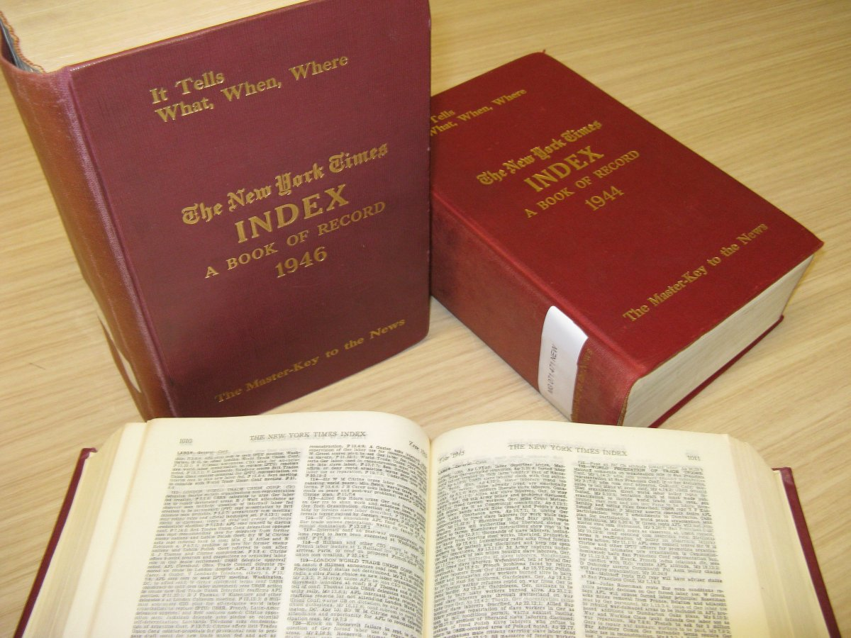 The New York Times indexes