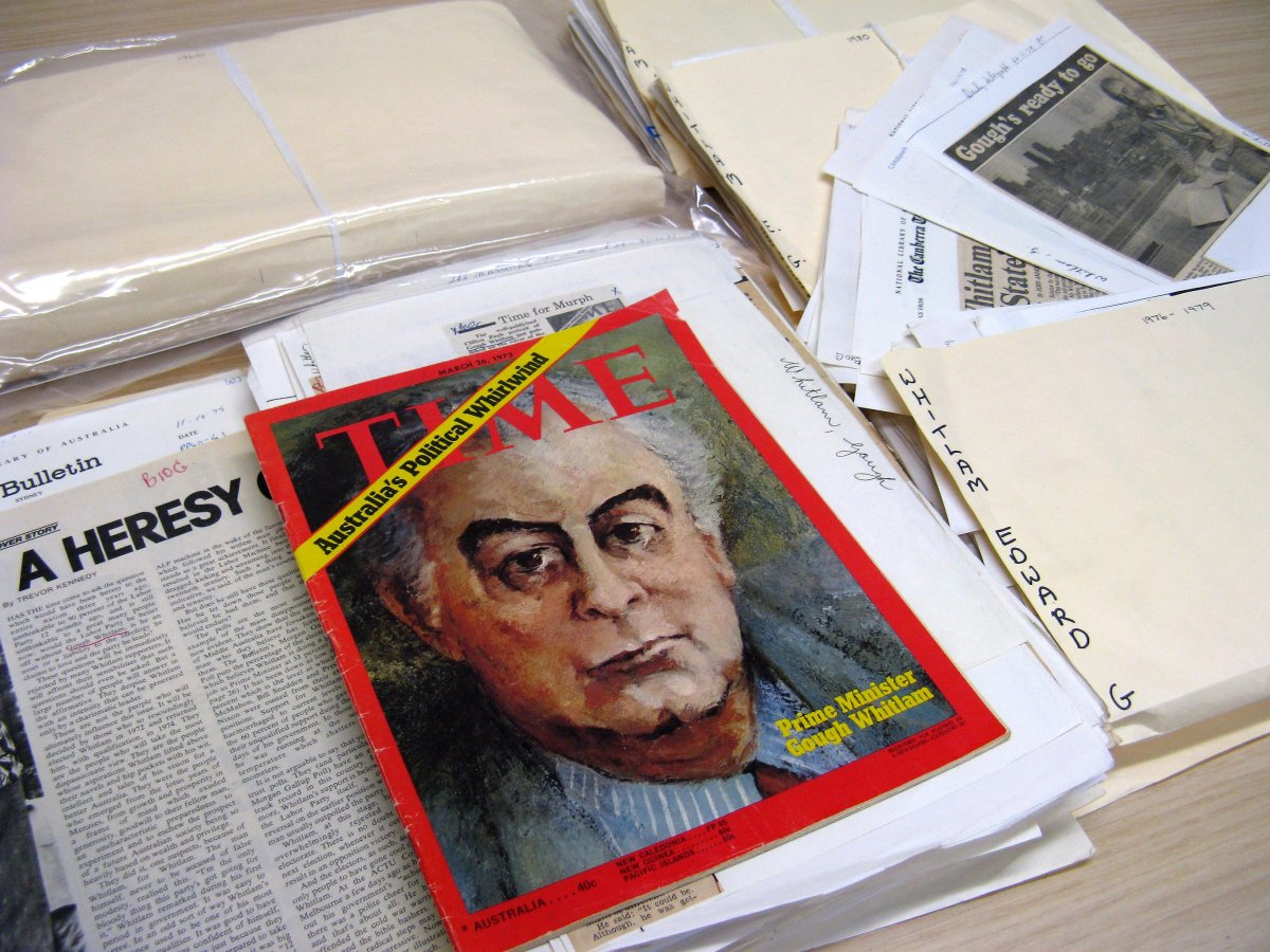 The biographical cuttings files of Gough Whitlam