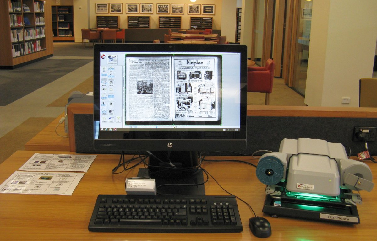 Microfilm reader scanner and PC