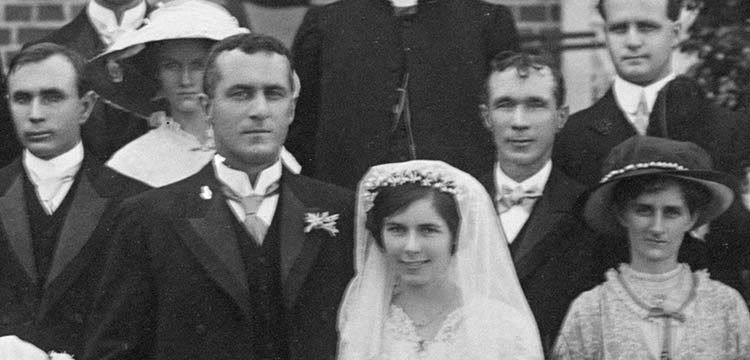 Detail of photo of Wedding of Douglas and Beirne