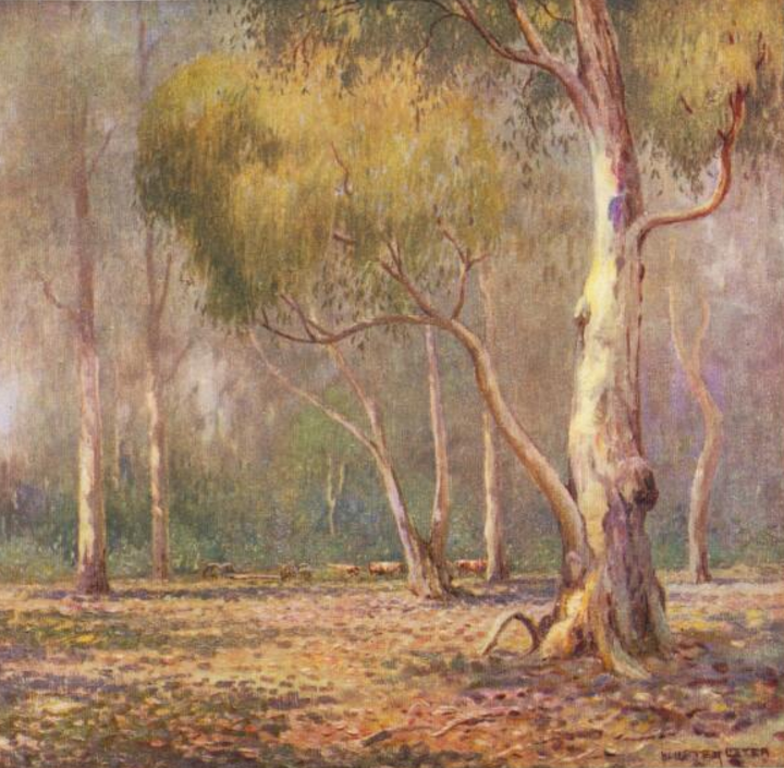'In the bush' oil painting by W. Lister Lister in Art in Australia, no. 3, 1917
