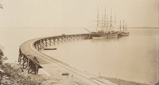 Jetty or Railway Pier, March 1887 [picture]