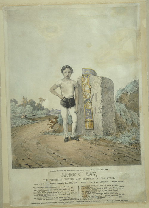 Johnny Day, the pedestrian wonder and champion of the world 1866
