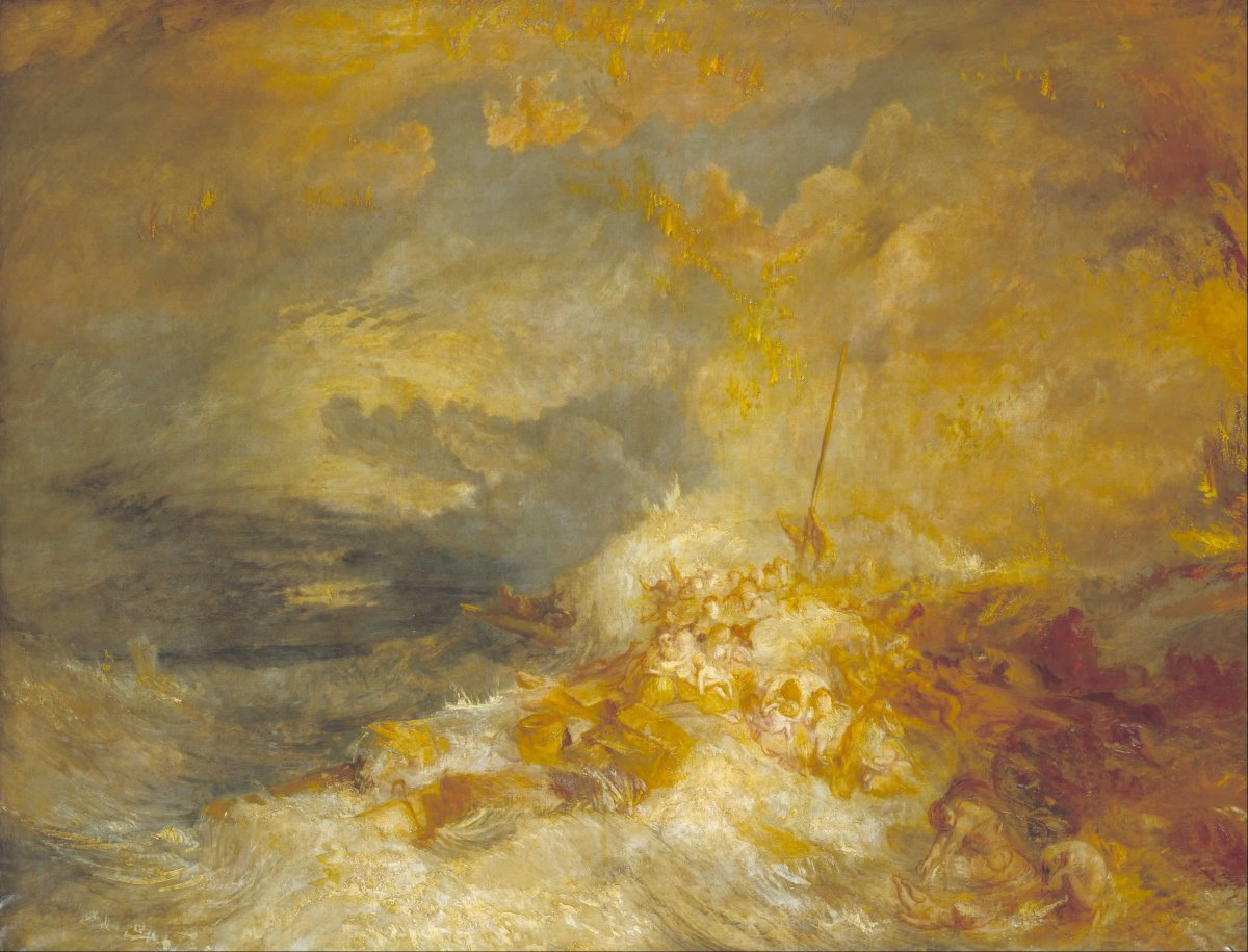 A disaster at sea by Joseph Turner