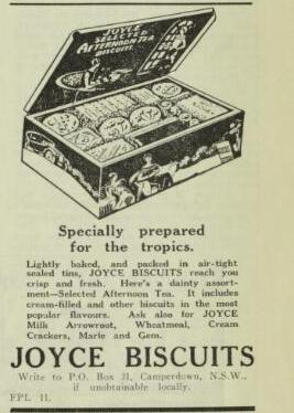 Joyce biscuits ad