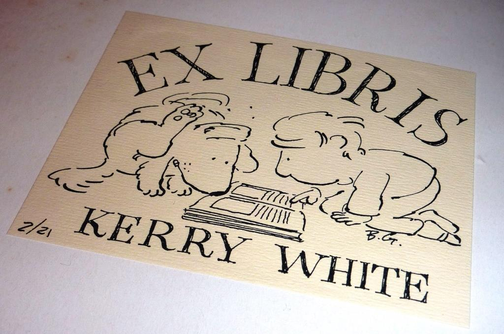 Kerry White's bookplate