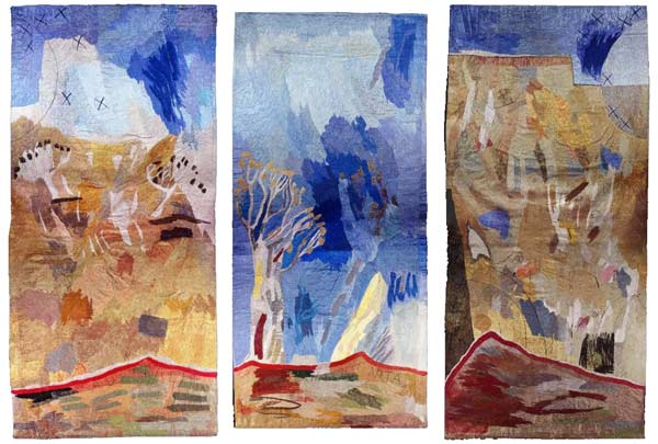 Australian Landscapes I–IV tapestries by Alice Kettle