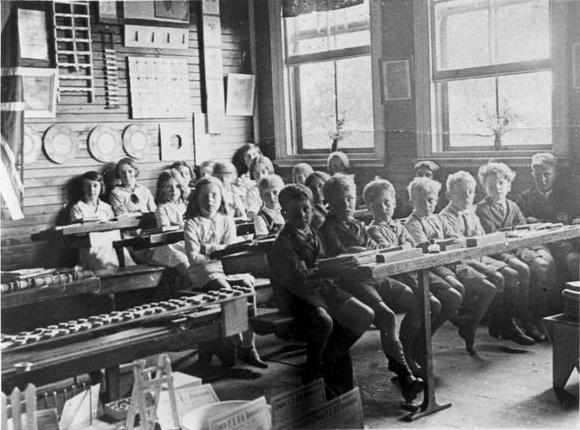 School Pupils Sitting in the Classroom, Cowra