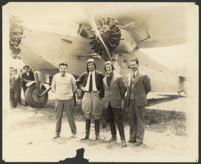 Charles Kingsford Smith and crew of Southern Cross