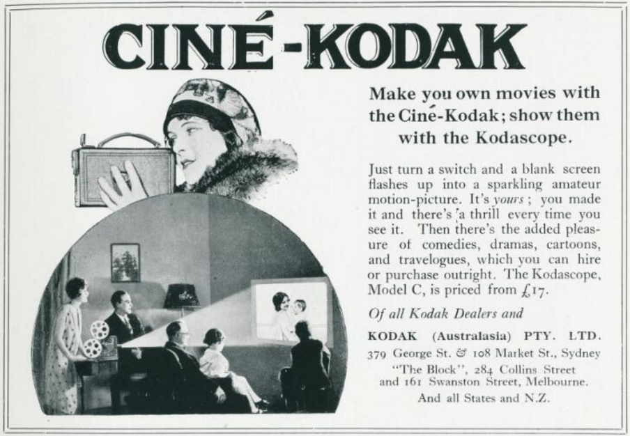 Advertisement for Kodascope, Art in Australia, no. 21, 1 September 1927