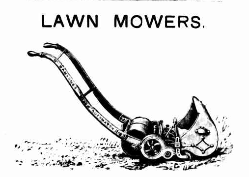 Sketch of a lawn mower