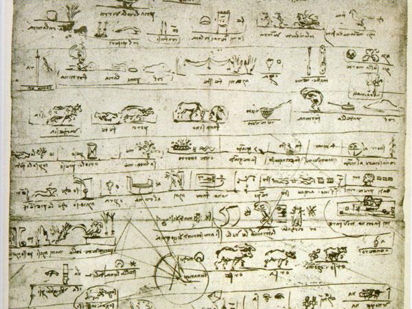 Leonardo's rebus manuscript