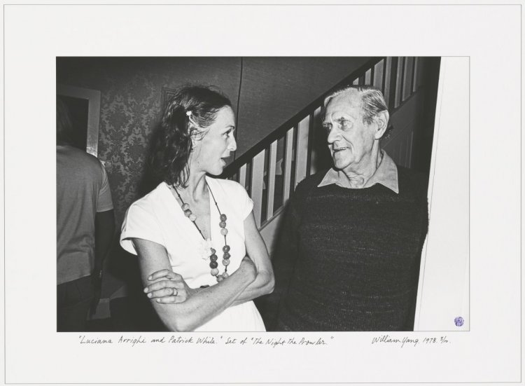 Photograph of Luciana Arrighi and Patrick White