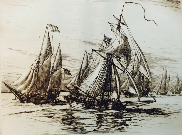 Illustration of ships