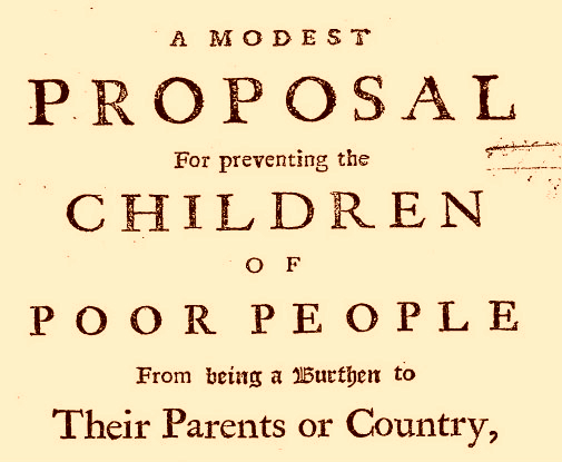 Image of title page for text 'A Modest Proposal'