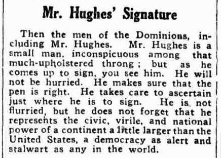 Mr Hughes' Signature
