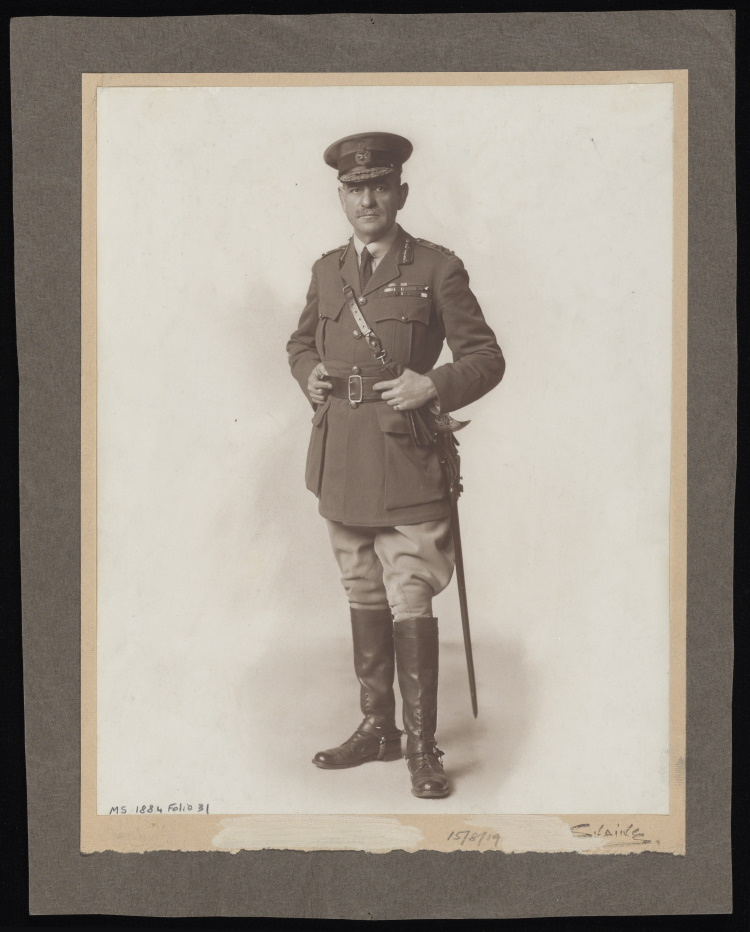 Portrait photograph of Sir John Monash in uniform