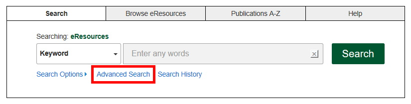 Advanced search in the eResources