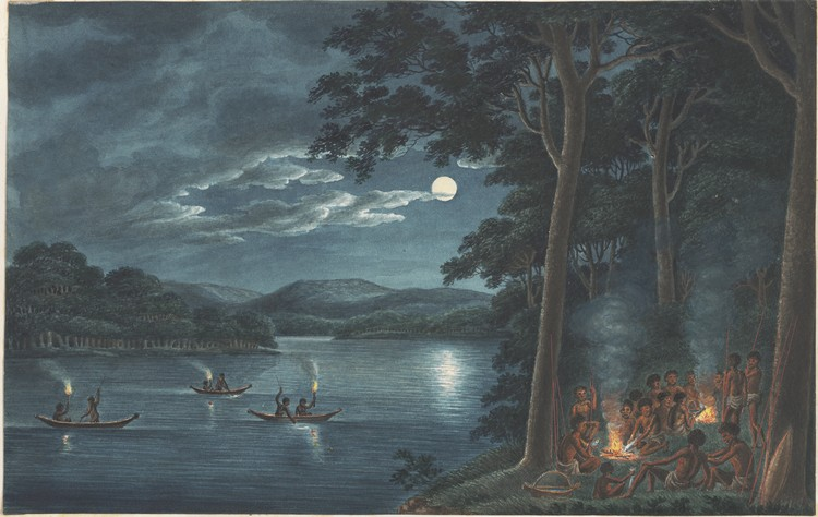 Fishing by Torchlight ...