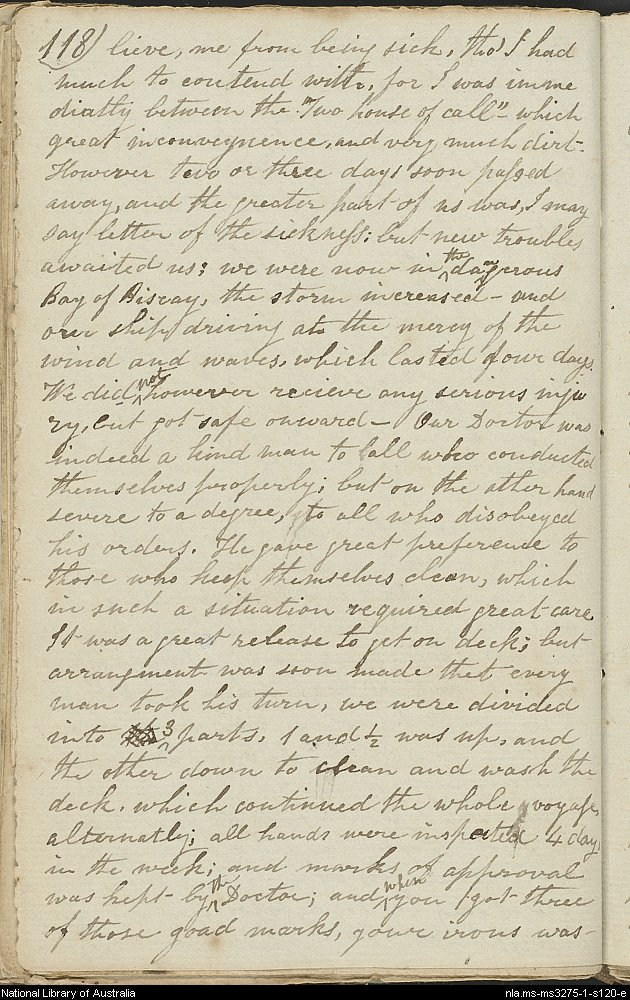Page from diary of John Ward