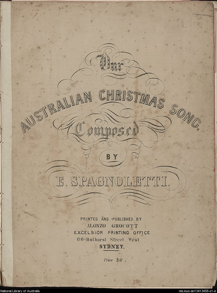 Our Australian Christmas Song - cover