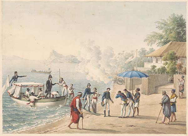 the Uranie expedition's arrival in Dili