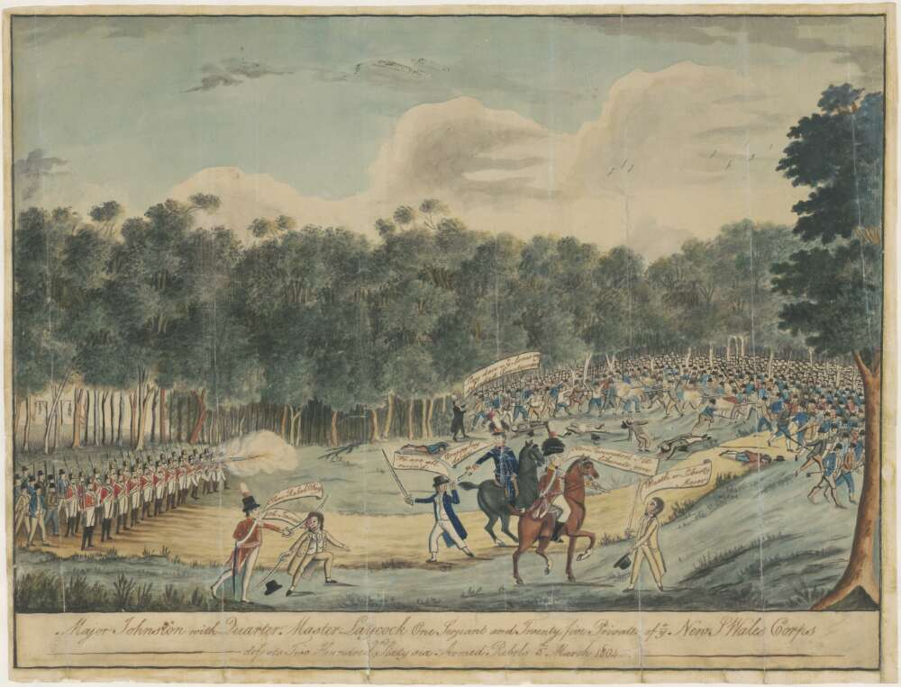 Convict uprising at Castle Hill, 1804