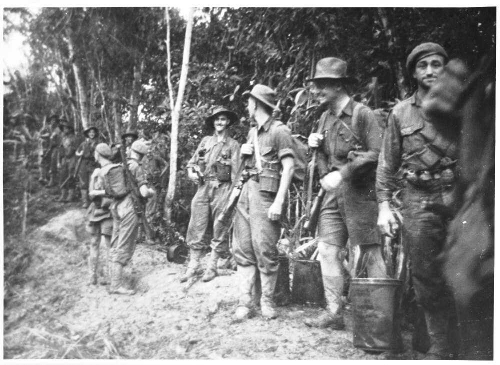 The 2/3rd Australian Independent Company in Parers Bowl, preparing to attack Timbered Knoll, Orodubi, New Guinea, 29 July, 1943
