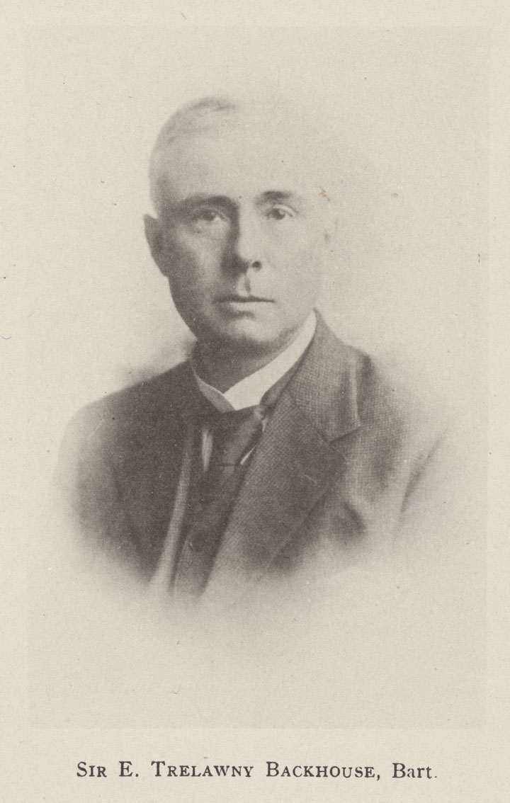 Photograph of Sir Edmond Backhouse