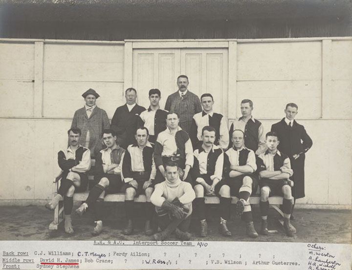 Photograph of K.R. & A.C. Intersport Soccer Team, 1910
