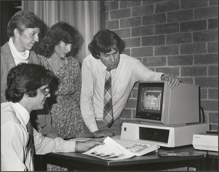 Staff at the ACI computer centre
