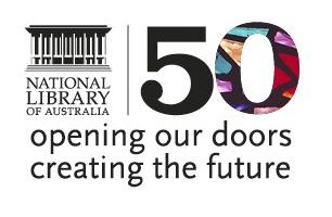 50th anniversary library logo