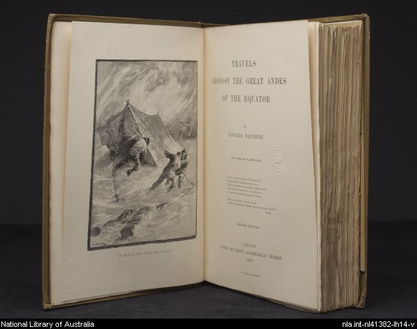 Title page of Travels amongst the Andes