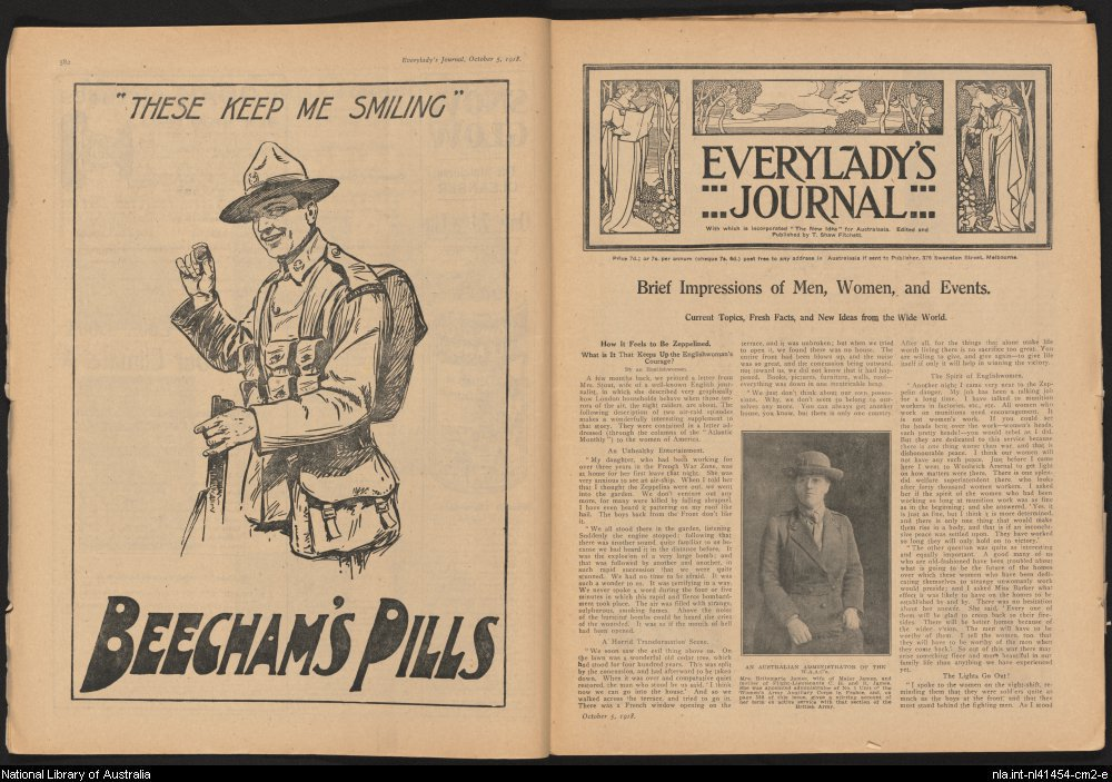Everylady's Journal, 5 October 1918 (National Library of Australia)