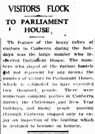 Canberra Times 1926 article