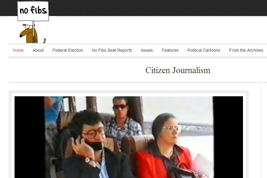 No Fibs Citizen Journalism website archived in PANDORA July 2013