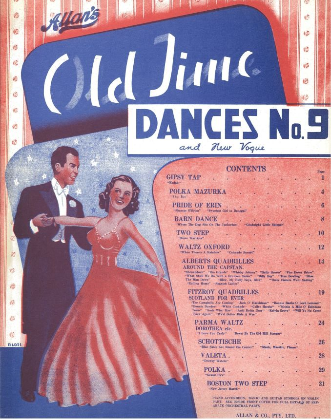 Cover to Allan's old time dances and new vogue, No. 9.