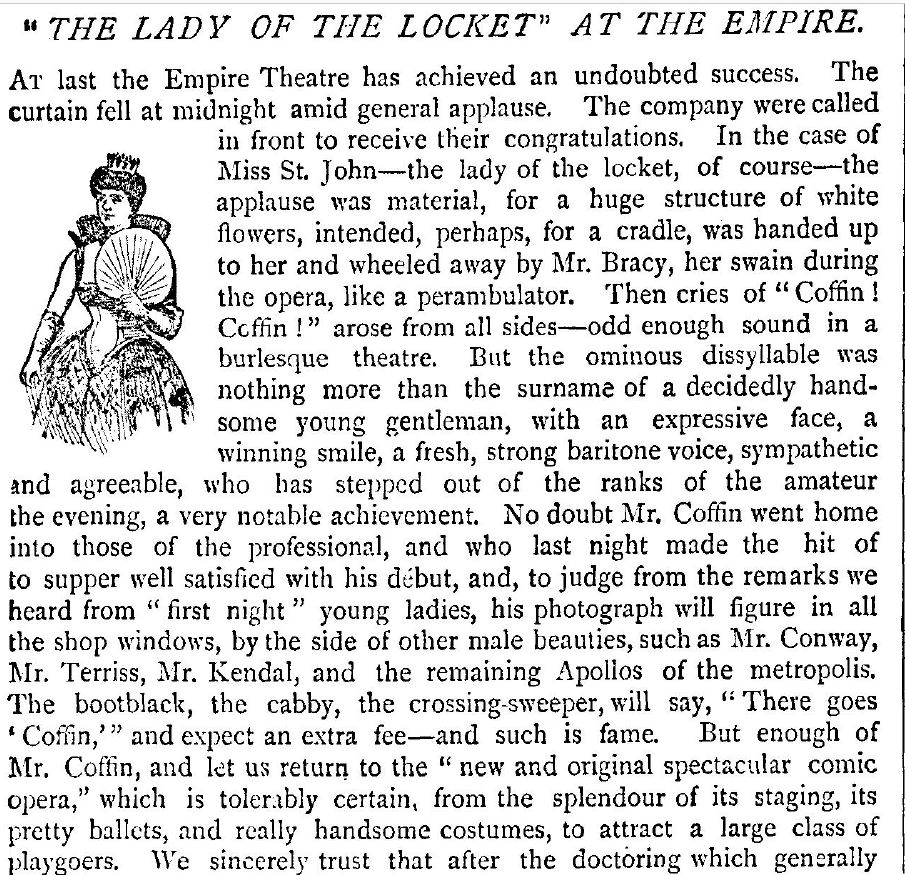 Review for Lady of the Locket from the Pall Mall gazette