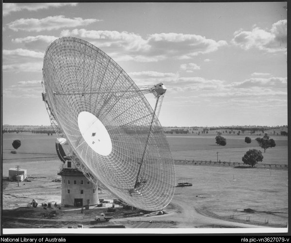 Radio telescope at Parkes, N.S.W.